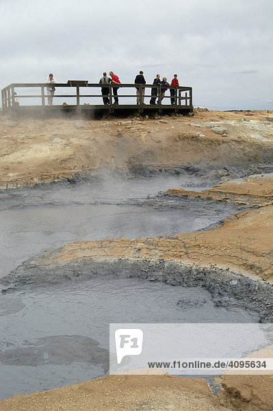 Solfatara and boiling mud at the mountain N·mafjall Iceland