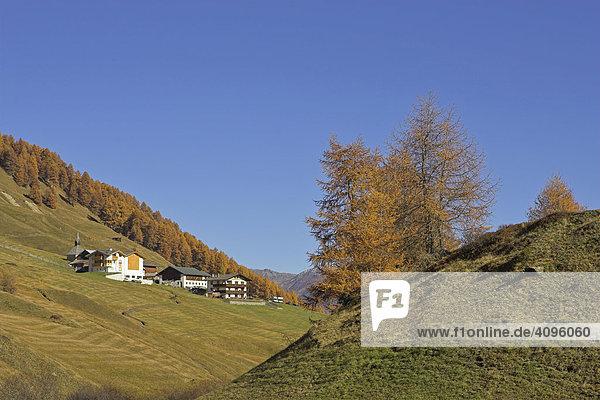 Das Bergdorf Rojen (2000m)  Südtirol  Italien