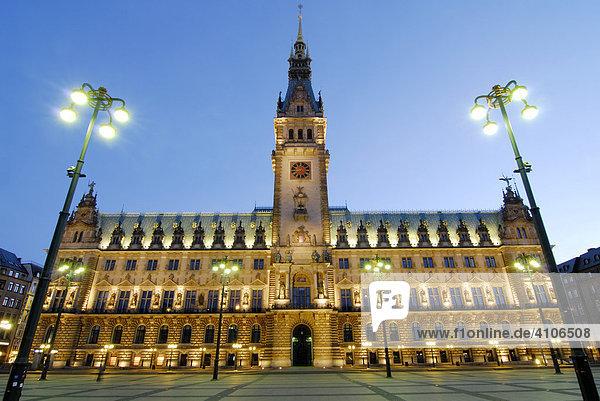 Das Rathaus in Hamburg  Deutschland