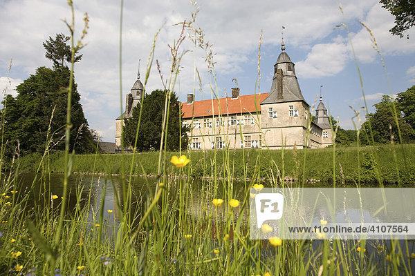 Wasserschloss Westerwinkel  Barockanlage mit Park  Ascheberg  Münsterland  Nordrhein Westfalen  Deutschland  Europa