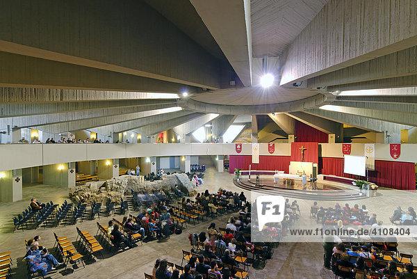 Wallfahrtskirche Madonna delle Lacrime  innen  Syrakus  Sizilien  Italien