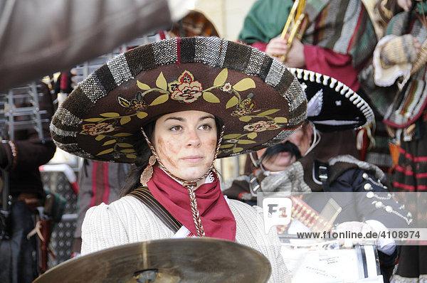 Guggenmusikgruppe Plunderhüüsler Schaan  Liechtenstein  25. Internationales Guggenmusikertreffen in Schwäbisch Gmünd  Baden Württemberg  Deutschland  Europa