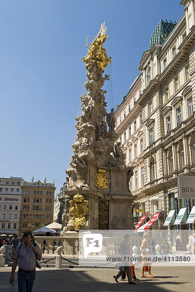 Graben und Pestsäule  Wien  Österreich