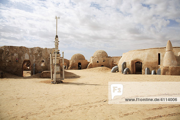 Desert city - location of star wars - episode I in the Sahara  Tozeur  Tunisia