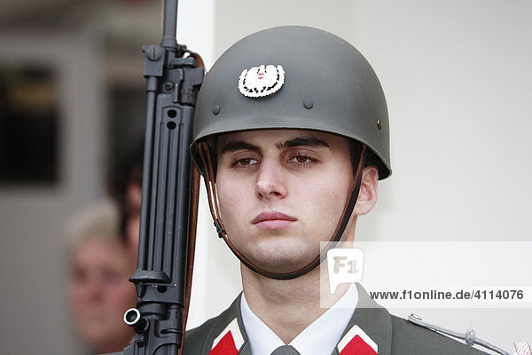 Portrait of a young guard officer
