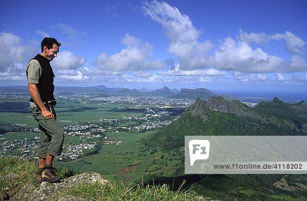 Blick vom Gipfel des Le Pouce  Mauritius