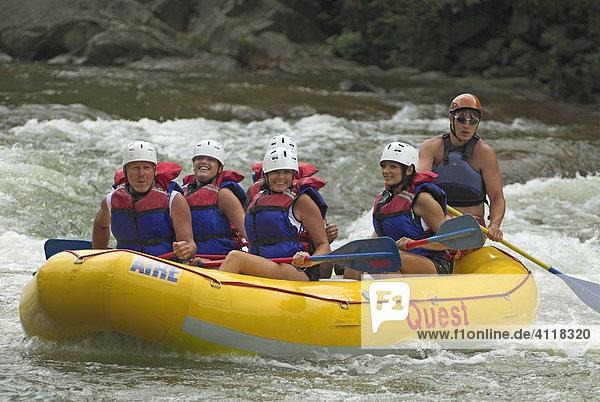 Rafting auf dem Ocoee River  Tennessee  USA