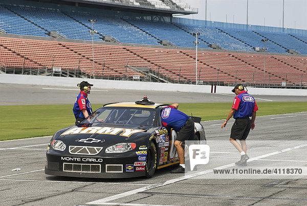 Racing car on the Daytona Speedway  Daytona Beach  Florida  USA