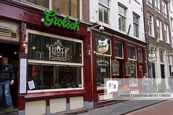 Kneipe Hot or Not  Amsterdam  Holland  Niederlande  Europa