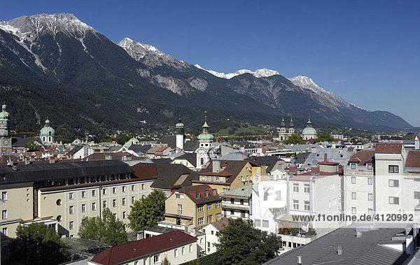 Overlook over Innsbruck  Tyrol  Austria