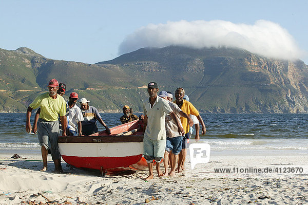 Fishers  boat  Hout Bay near Cape Town   South Africa  Africa