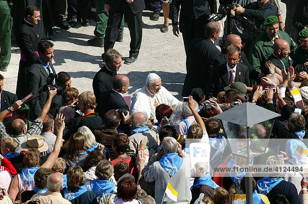 Papstbesuch Benedikt XVI.  Altötting  Bayern  Deutschland