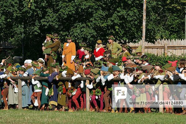 Ritterspiele während der Landshuter Hochzeit  Landshut  Niederbayern  Bayern  Deutschland  Europa