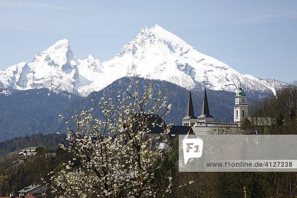 Berchtesgaden mit Blick auf den Watzmann  Oberbayern  Bayern  Deutschland  Europa