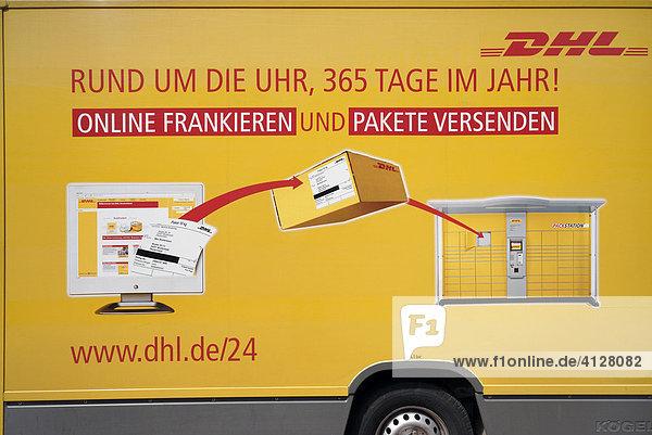 Paketwagen der DHL