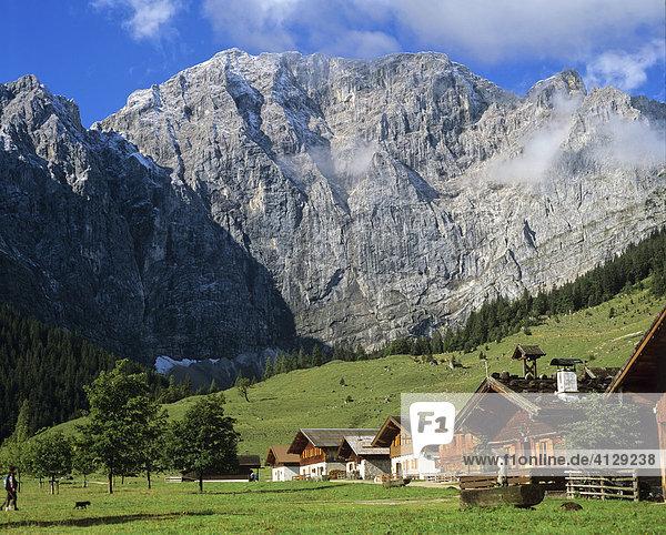 Großer Ahornboden  Engalm  Grubenkarspitze  Gruberkarwand  Karwendel  Tirol  Österreich