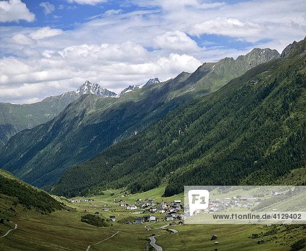 Galtür  Patznauntal  Silvretta  Samnaunergruppe  Tirol  Österreich