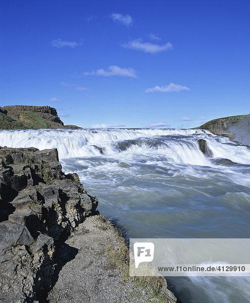 Gullfoss Waterfall  Hvítá-Fluss  Haukadalur  southern Iceland  Iceland