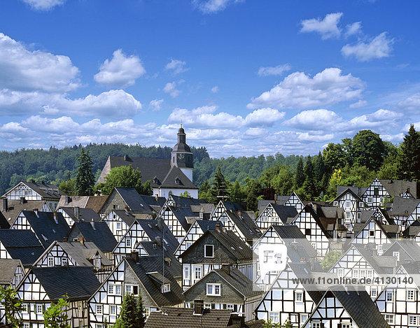 Freudenberg  historisches Zentrum  Fachwerkhäuser  Siegerland  Nordrhein-Westfalen  Deutschland Freudenberg, historisches Zentrum, Fachwerkhäuser, Siegerland, Nordrhein-Westfalen, Deutschland