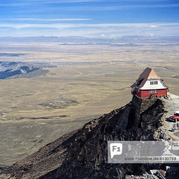Haus am Altiplano  Hochebene bei La Paz  Bolivien