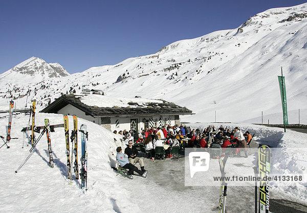 Flexen Haeusl Ski Huette in Zuers  Arlberg  Oesterreich