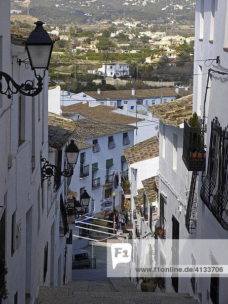 Steile Straße  Altea  Spanien