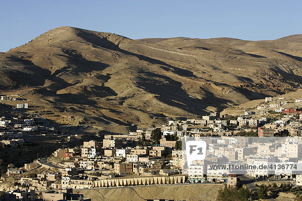 Der Ort Wadi Musa  Petra  Jordanien