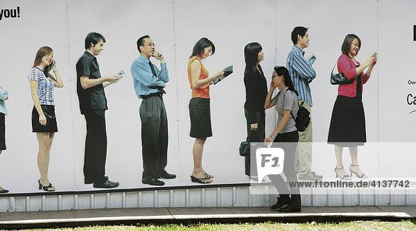 SGP  Singapore: Central Business District  Plakatwerbung.