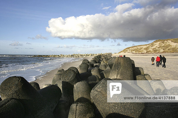 DEU  Germany : North Sea island Sylt  coastal protection. |