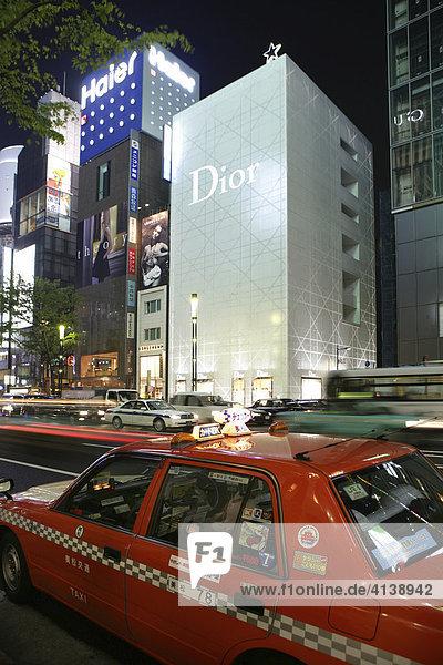 Dior Geschäft  Harumi Dori Straße  Viertel Ginza  Tokio  Japan  Asien
