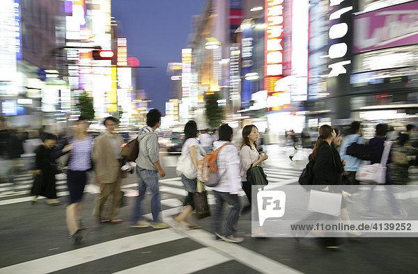 Japan  Tokyo: Shinjuku district. Shopping and amusement area at Shinjuku Dori street.