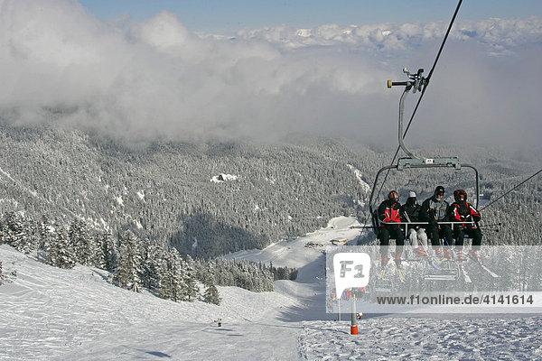 Sessellift im Skigebiet Bansko  Bulgarien