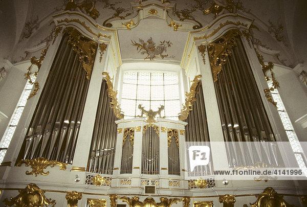 Orgel im Marienmünster Dießen am Ammersee  Oberbayern  Bayern  Deutschland