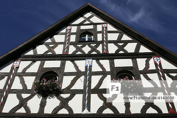 Fachwerkhaus in Pottenstein  Oberfranken  Bayern  Deutschland