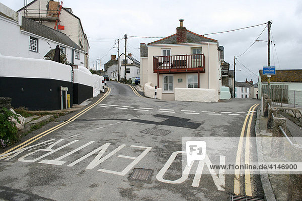 Indication No Entry  Porthleven  Cornwall  Great Britain