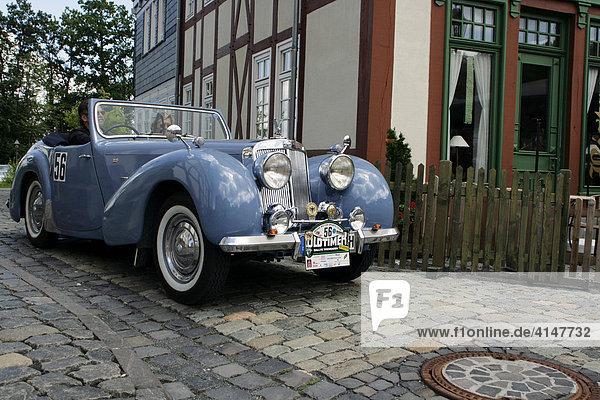 Oldtimer Triumph TR 1800 Roadster Baujahr 1948  Oldtimer-Rallye Wiesbaden 2007  Hessenpark  Neu-Anspach  Taunus  Hessen  Deutschland