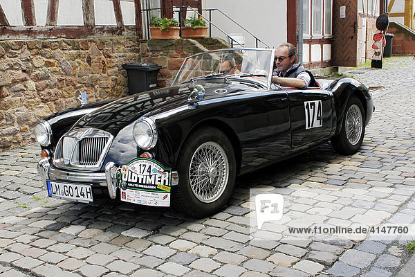 Oldtimer MG A 1600 Roadster Baujahr 1962 im Hessenpark  Oldtimer-Rallye Wiesbaden 2007  Hessen  Deutschland