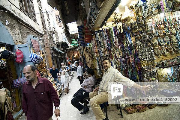 Khan el Khalili Bazar  Kairo  Ägypten
