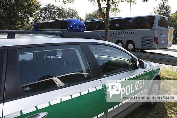 A3  Raststätte Köln-Königsforst  Reisebuskontrollen  Rösrath  Nordrhein-Westfalen  Deutschland