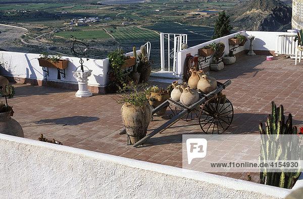 Dachterrasse  Mojácar (Almería)  Andalusien  Spanien