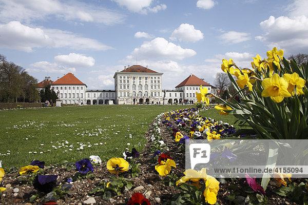 Schloss Nymphenburg  München  Bayern  Deutschland