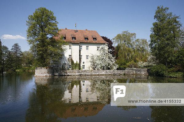 Wasserschloss Kleinbardorf  Gemeinde Sulzfeld  Haßberge  Rhön-Grabfeld  Unterfranken  Bayern  Deutschland  Europa