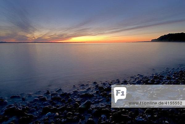 Sonnenaufgang in der Eckernförder Bucht  Ostsee  Schleswig-Holstein  Deutschland