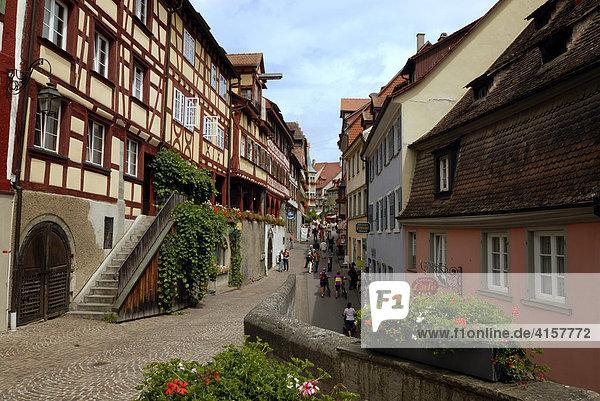 Altstadt  Meersburg  Baden-Württemberg  Deutschland  Europa.