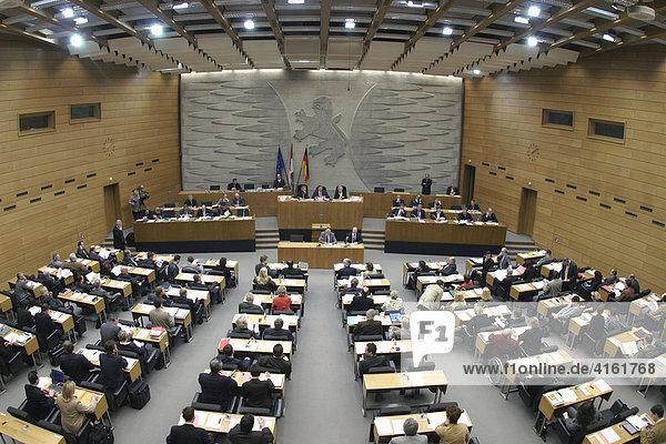 Hessischer Landtag  der Plenarsaal  Wiesbaden  Hessen  Deutschland Hessischer Landtag, der Plenarsaal, Wiesbaden, Hessen, Deutschland