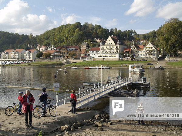 Ferry  Wehlen  Saxon Switzerland  Saxony  Germany