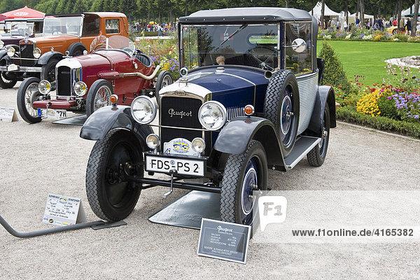 Peugot Coupe Frankreich 1926  Oldtimer-Gala Schwetzingen  Baden Württemberg Deutschland