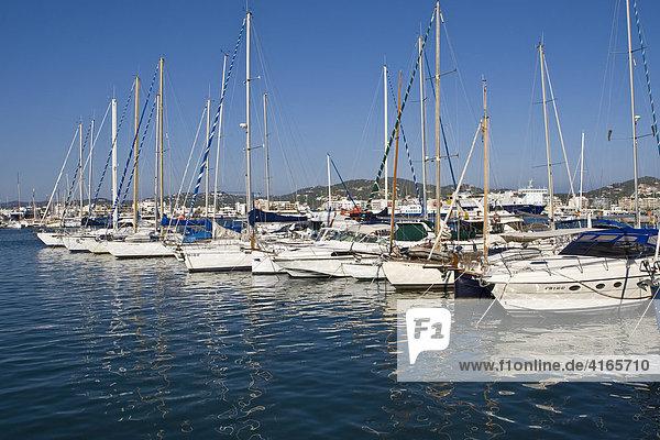 Hafen von Eivissa  Ibiza  Balearen  Spanien
