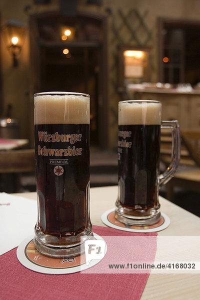 Würzburger Schwarzbier Premium Würzburg Restaurant Backöfele Unterfranken Bayern