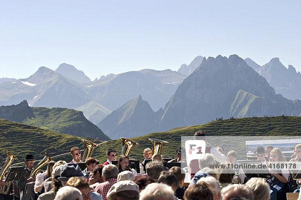 Trachtenfest auf Nebelhorn mit Musikkapelle Heimertingen - Allgäu